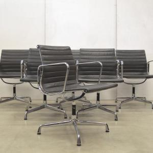 Vitra EA108 Alu Chair Leder Grau Eames Interior Aksel Aachen Vintage Design Furniture
