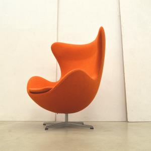 Fritz Hansen Egg Chair Orange Stoff Arne Jacobsen Interior Aksel Ankauf Design Paris London
