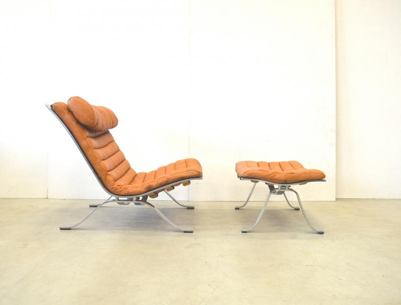 Ari Lounge Chair & Ottoman by Arne Norrell Norway Interior Aksel