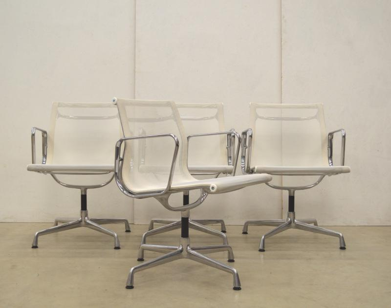 Vitra EA108 Alu Chair Eames Netz Weiß White Interior Aksel Aachen Germany