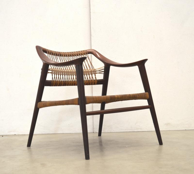 Bambi Chair Rolf Rastad & Adolf Relling Armchair Bahus Norway Rattan Chair Interior Aksel Aachen Designklassiker